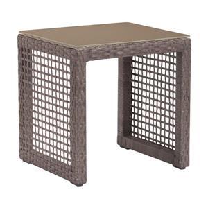 Table d'extérieur Coronado de Zuo Modern, 17,9 po x 15,9 po, brun