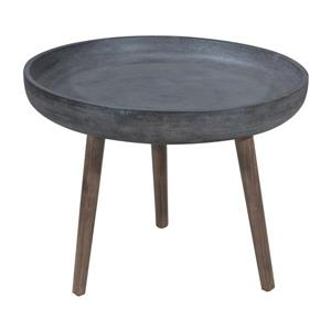Table d'appoint Brother, ciment et naturel