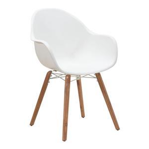 Chaise d'extérieur Tidal de Zuo Modern, 34 po x 22,8 po, blanc, ens. de 4