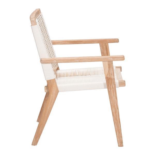 Chaise d'extérieur en bois West Port de Zuo Modern, 35 po x 24 po, blanc