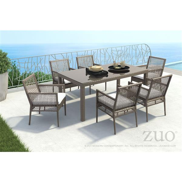 Zuo Modern Coronado Dining Chair - Brown and Light Grey - Set of 2