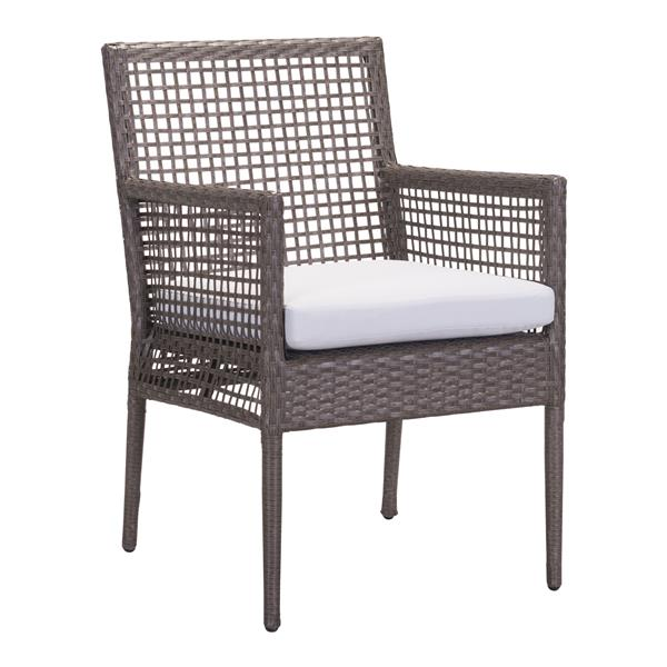 Chaise d'extérieur Coronado de Zuo Modern, brun et gris pâle, ens. de 2
