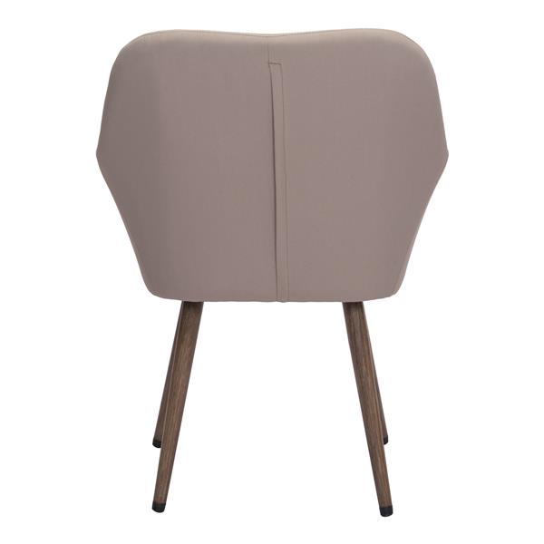 Zuo Modern Pismo Outdoor Dining Chair - 34.5-in x 25.5-in - Taupe