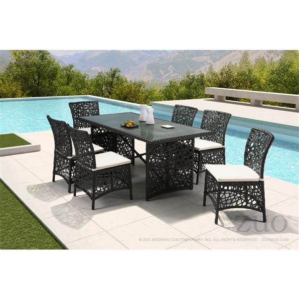Zuo Modern Santa Cruz Outdoor Chair - 34.5-in x 19.5-in - Terra Brown