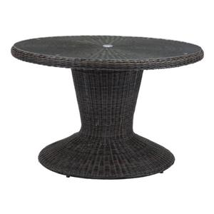 Table de patio Noe de Zuo Modern, 30 po x 48 po, brun