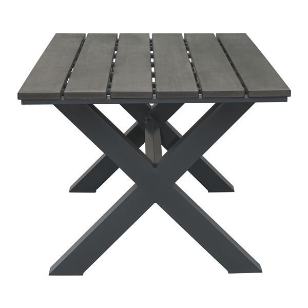 Table à dîner Bodega, gris et brun