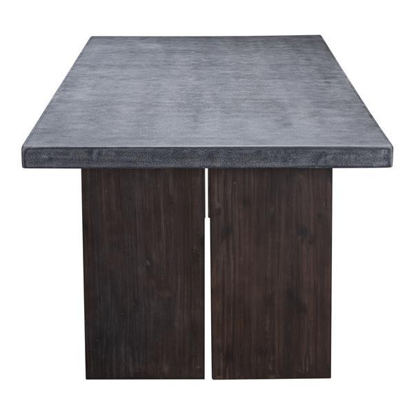 Table à dîner Windsor, ciment et naturel
