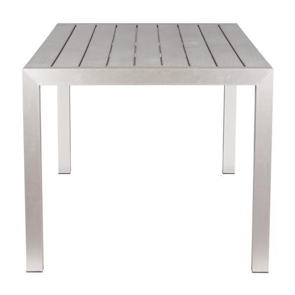 Table à dîner Metropolitan, aluminium brossé