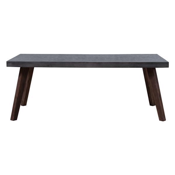 Table de patio Son de Zuo Modern, 29 po x 78,7 po, ciment et bois
