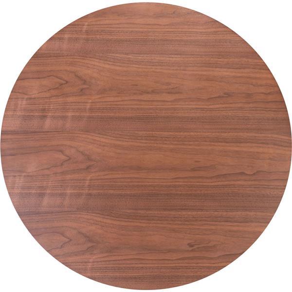 Table haute en bois d'hévéa Trinity de Zuo Modern, 42,3 po x 31,5 po, brun