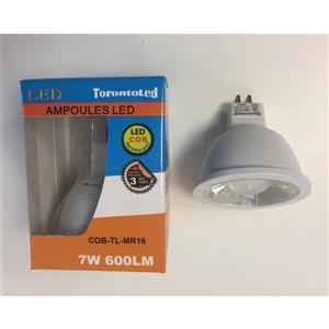 TorontoLed LED COB MR16 Bulb - 10 PK - White