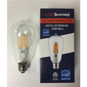 Ampoule Victorienne à DEL, 5 pqt