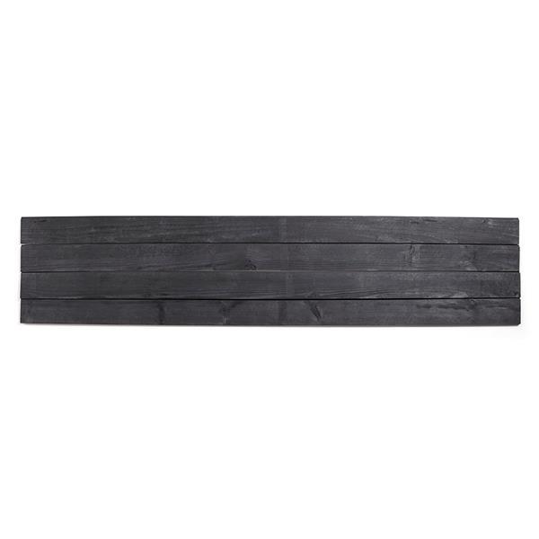 """Planches décoratives """"Shiplap"""", 8', noir"""