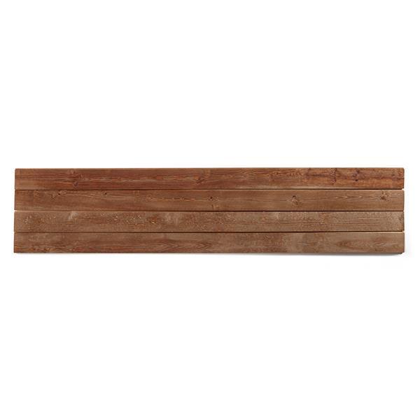 """Planches décoratives """"Shiplap"""", 8', brun"""