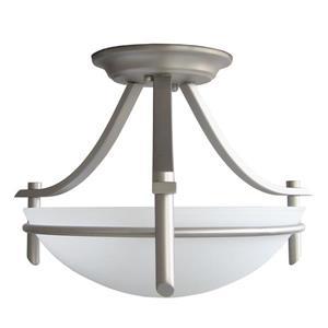 Semi-plafonnier à 2 lumières