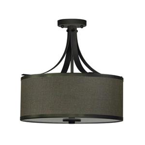 Whitfield Lighting Semi-Flush Mount Light - 3 Lights - 15-in x 16-in - Ebony Bronze