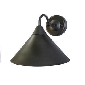 Luminaire extérieur à 1 lumière contemporain, noir mat