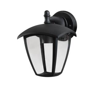 Whitfield Lighting Frances Outdoor Wall Mount Light - 1 Light - 9-in x 7-in - Black