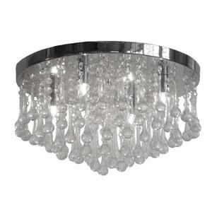 """Plafonnier à 4 lumières Mindy, 16"""", cristaux de verre transparent"""