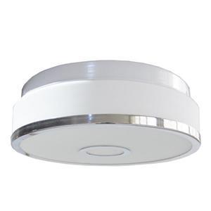 Whitfield Lighting Flush Mount Light - 2 Lights - 11.25-in - White/Polished Chrome
