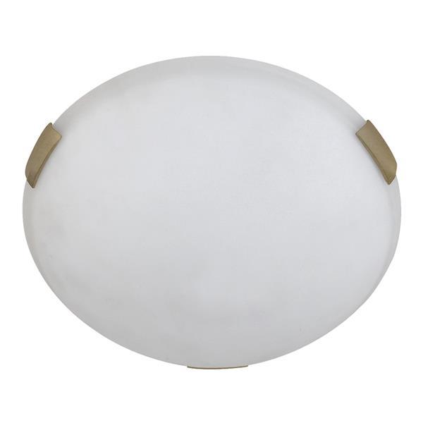 """Plafonnier standard à 3 lumières, 5"""" x 16"""", structure dorée"""