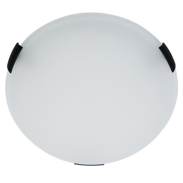 """Plafonnier standard rond à 2 lumières, 3,75"""", noir"""