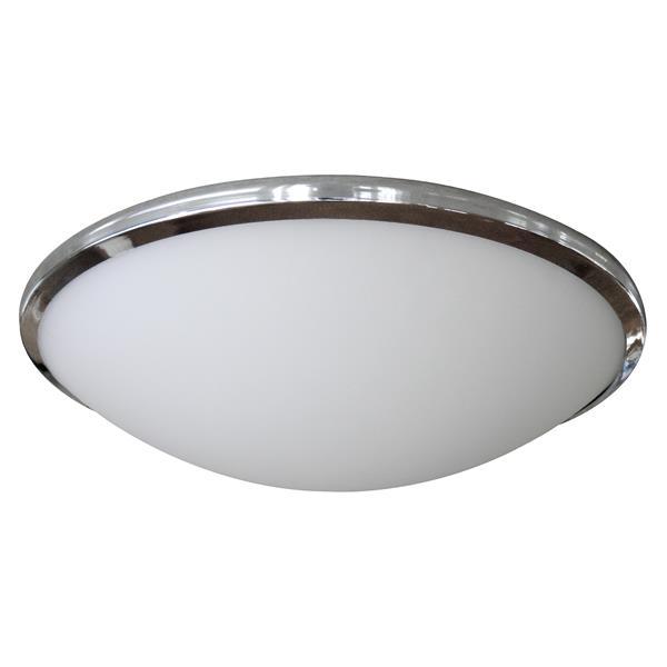 Plafonnier Whitfield à 2 lumières, 3,75 po, acier satiné, 60 W