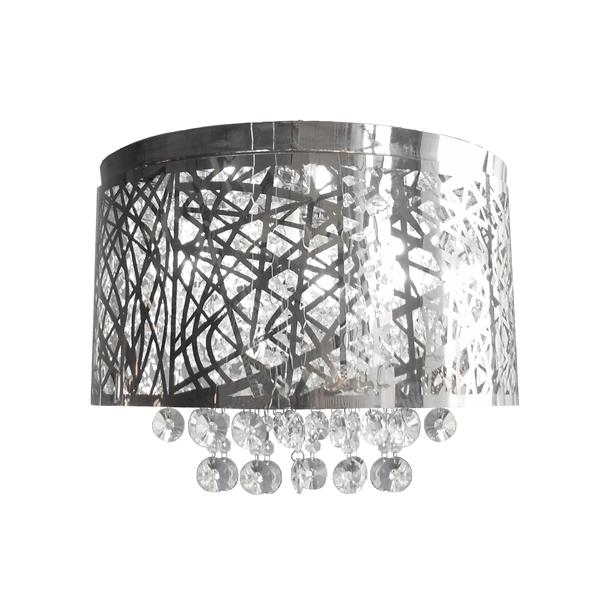 Whitfield Lighting Flush Mount Light - 5 Light - 9-in x 16-in - Polished Chrome