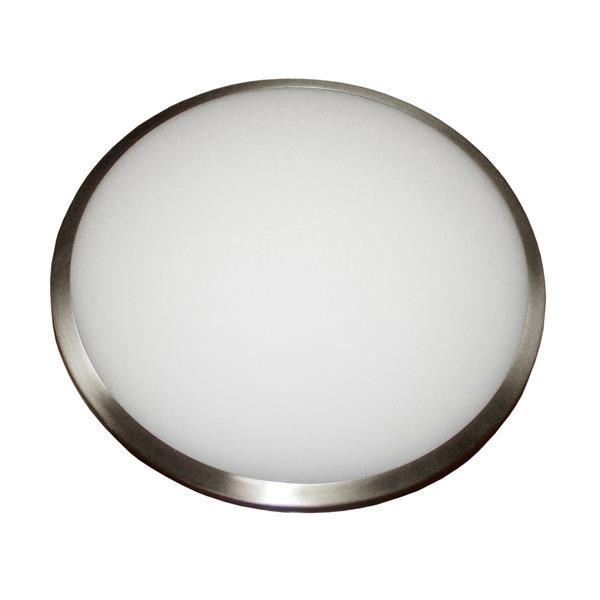 """Plafonnier à 2 lumières, 3,75"""" x 12"""", verre opaque"""