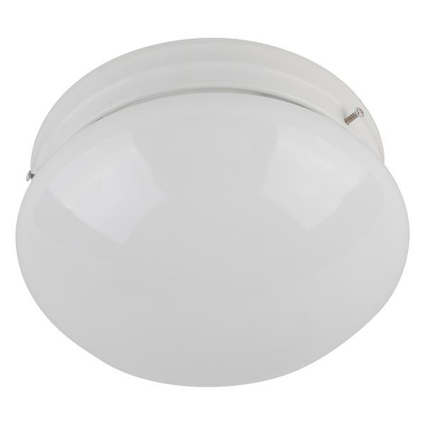 """Plafonnier à 1 lumière, 3"""" x 6"""", blanc lustré"""