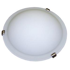 "Plafonnier standard à 2 lumières, 12"" x 4"", nickel satiné"