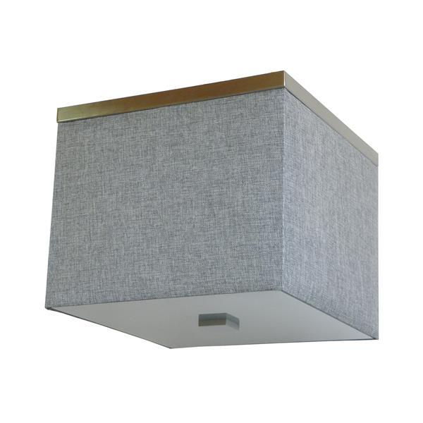 Plafonnier à 3 lumières Modena de Whitfield, 13 po x 15,8 po, tissu gris