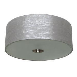 """Plafonnier à 2 lumières Modena, 14"""" x 5"""", gris acier"""