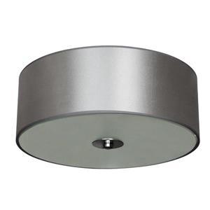 Plafonnier à 2 lumières Modena, chrome et tissu gris