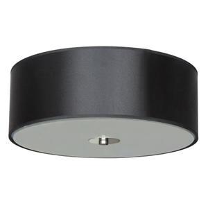 """Plafonnier à 2 lumières Modena, 5"""" x 14"""", noir"""