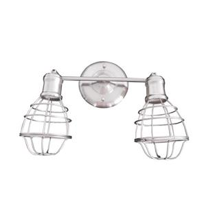 Whitfield Lighting Vanity Light - 2 Lights - Wall-Mount - Satin Steel
