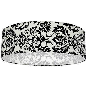 Whitfield Lighting Modena Lamp Shade - 22-in x 7-in - White and Black Damask