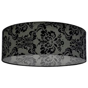 Whitfield Lighting Modena Lamp Shade - 22-in x 7-in - Black Damask Pattern