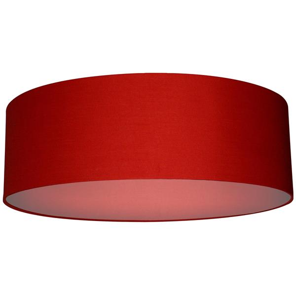 Whitfield Lighting Modena Lamp Shade - 22-in x 7-in - Chili Pepper Red Finish