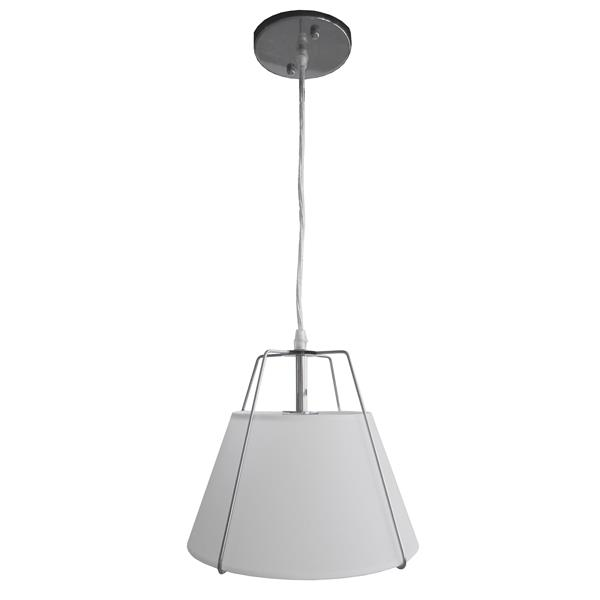 Whitfield Lighting Alina Pendant Light - 1 Light - 9-in - Frosted Glass - Chrome