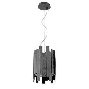 Luminaire suspendu à 1 lumière Dien de Whitfield, 12,5 po, noir mat