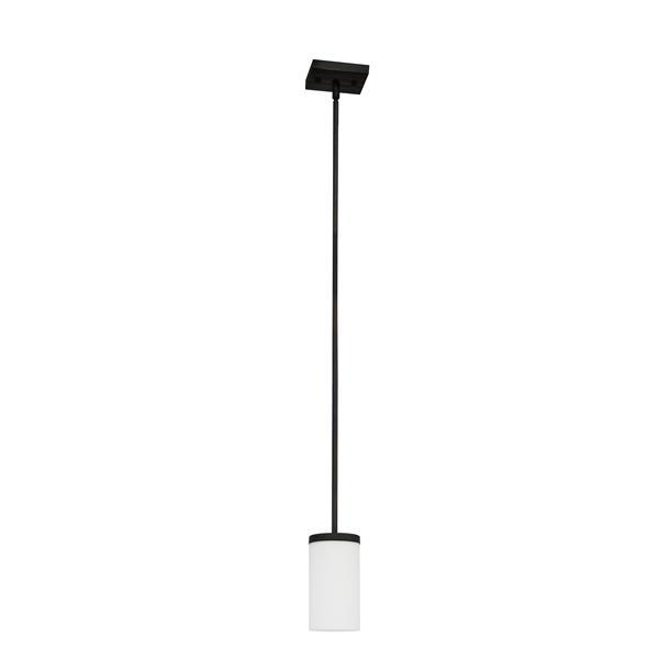 """Luminaire suspendu à 1 lumière Armella, 9"""", bronze ébène"""