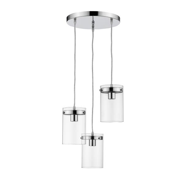 Luminaire suspendu Whitfield à 3 lumières, 7,5 po, chrome poli