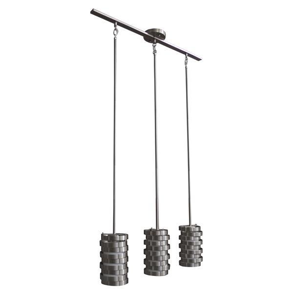 Luminaire suspendu Whitfield à 3 lumières, 8,5 po, acier satiné