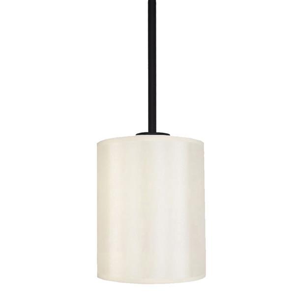 Luminaire suspendu à 1 lumière Falcon de Whitfield, 8 po, bronze ébène