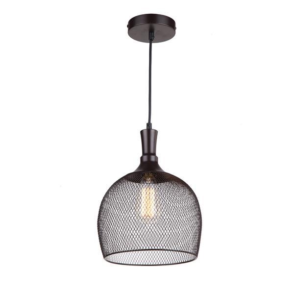 """Luminaire suspendu à 1 lumière Alec, 12"""", bronze ébène"""