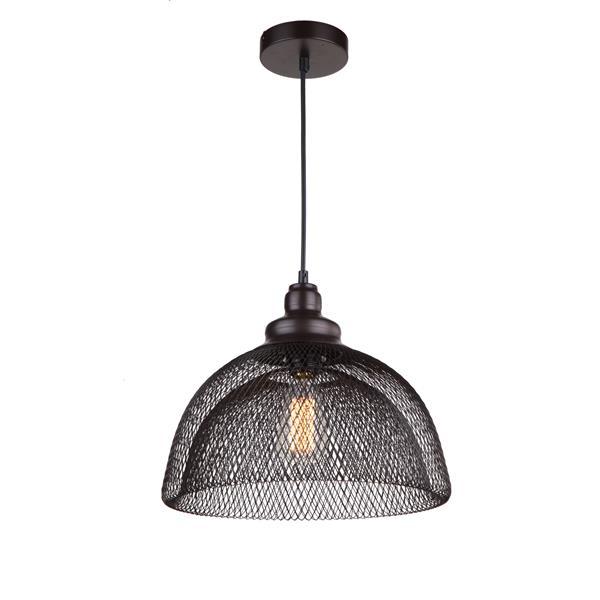 """Luminaire suspendu à 1 lumière Alec, 7,5"""", bronze ébène"""