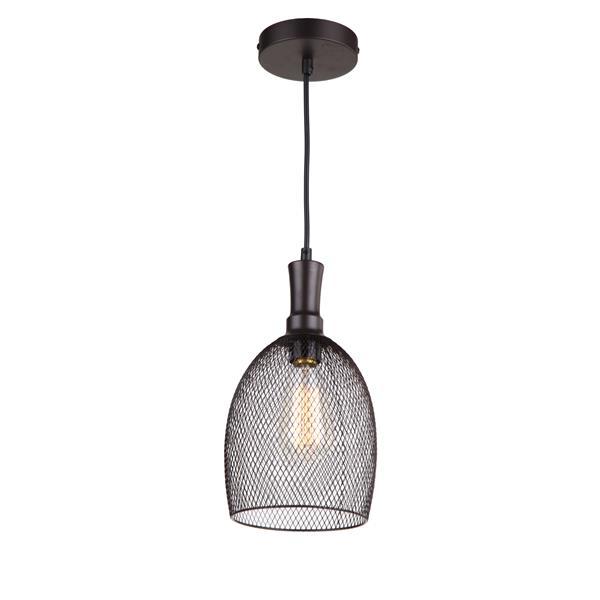 """Luminaire suspendu à 1 lumière Alec, 12,2"""",bronze industriel"""
