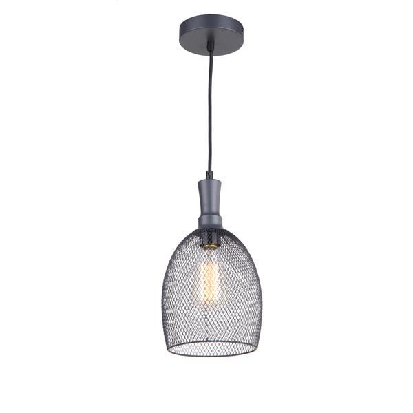 Luminaire suspendu à 1 lumière Alec de Whitfield, 12,2 po, gris industriel