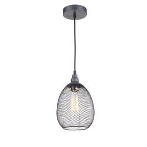 """Luminaire suspendu à 1 lumière, 9,9"""" x 6,75"""", gris"""